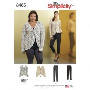 Simplicity Ladies Sewing Pattern 8465 Knit Twist Tops & Pants Trouers
