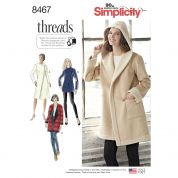 Simplicity Ladies Sewing Pattern 8467 Lined Coat & Jacket