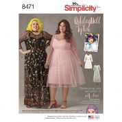 Simplicity Ladies Plus Size Sewing Pattern 8471 Special Occasion Dresses