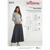 Simplicity Ladies Easy Pattern Hacking Sewing Pattern 8474 Knit Skirts