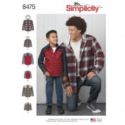 Simplicity Mens & Boys Sewing Pattern 8475 Shirts & Jackets
