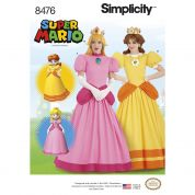 Simplicity Ladies Sewing Pattern 8476 Super Mario Princesses Costumes