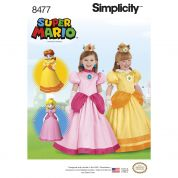 Simplicity Girls Sewing Pattern 8477 Super Mario Princesses Costumes