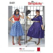 Simplicity Ladies Sewing Pattern 8481 Rockabilly Dresses Costumes