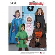 Simplicity Childrens Sewing Pattern 8483 Cape Costumes