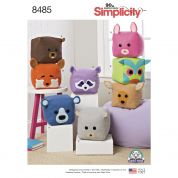Simplicity Crafts Easy Sewing Pattern 8485 Stuffed Cube Toy Animals