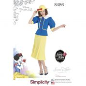 Simplicity Ladies Sewing Pattern 8486 1930's Disney Snow White Dress & Hat