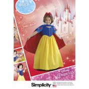 Simplicity Girls Sewing Pattern 8487 Disney Snow White Costume