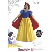 Simplicity Ladies Sewing Pattern 8489 Disney Snow White Dress & Hat