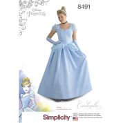 Simplicity Ladies Sewing Pattern Pattern 8491 Cinderella Princess Costume