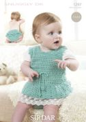 Sirdar Baby Dress & Panties Crochet Pattern 1297  DK