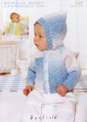 Hayfield Baby Jackets Baby Changes Knitting Pattern 1322  DK