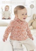 Sirdar Baby Sweaters Knitting Pattern 1346  Chunky