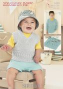 Sirdar Baby Tank Top, Sweater & Blanket Knitting Pattern 1430  DK