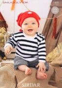 Sirdar Baby Pirate Sweater & Headscarf Knitting Pattern 1460  DK