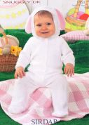 Sirdar Baby Bunny All-in-One Knitting Pattern 1463  DK