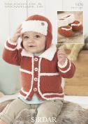 Sirdar Baby Jacket, Hat & Booties Knitting Pattern 1476  DK
