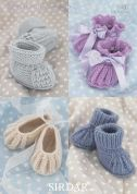 Sirdar Baby Booties & Shoes Knitting Pattern 1487  4 Ply