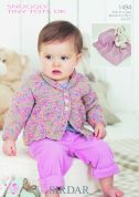 Sirdar Baby Cardigan & Blanket Tiny Tots Knitting Pattern 1494  DK