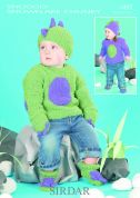 Sirdar Baby Dinosaur Sweaters & Accessories Snowflake Knitting Pattern 1497  Chunky