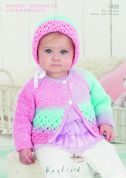 Hayfield Baby Cardigan & Bonnet Baby Changes Knitting Pattern 1498  DK