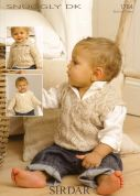 Sirdar Baby Sweaters & Tank Top Knitting Pattern 1784  DK