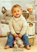 Sirdar Baby Sweaters, Blanket & Hat Knitting Pattern 1785  DK
