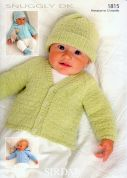 Sirdar Baby Cardigans, Hats & Booties Knitting Pattern 1815  DK