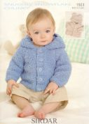 Sirdar Baby Hooded Jackets Snowflake Knitting Pattern 1923  Chunky