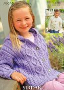 Hayfield Girls Jackets Bonus Knitting Pattern 2126  Aran
