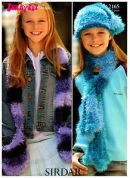 Sirdar Girls Hats & Scarves Knitting Pattern 2165  DK