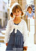 Sirdar Girls Boleros Simply Recycled Knitting Pattern 2320  DK