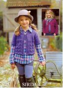 Sirdar Girls Cardigans Country Style Knitting Pattern 2325  DK