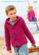 Sirdar Childrens Cardigans Supersoft Knitting Pattern 2334  Aran