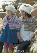 Sirdar Ladies & Girls Capes Knitting Pattern 2343  Chunky