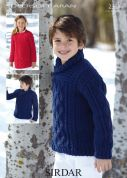 Sirdar Childrens Sweater & Sweater Dress Knitting Pattern 2361  Aran