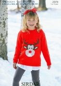 Sirdar Childrens Christmas Sweater Wash n Wear Knitting Pattern 2373  DK