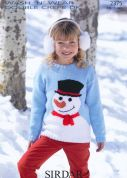 Sirdar Childrens Christmas Sweater Wash 'n' Wear Knitting Pattern 2375  DK