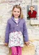 Hayfield Girls Cardigans Knitting Pattern 2379  Chunky