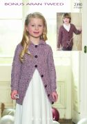 Hayfield Childrens Cardigans Bonus Knitting Pattern 2390  Aran