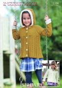 Sirdar Girls Coats Supersoft Knitting Pattern 2394  DK, Aran
