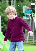 Sirdar Childrens Sweaters Supersoft Knitting Pattern 2395  Aran