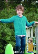 Sirdar Boys Sweater & Tank Top Supersoft Knitting Pattern 2397  Aran
