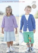 Sirdar Childrens Cardigans Country Style Knitting Pattern 2404  DK