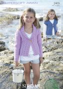Sirdar Girls Jacket & Waistcoat Supersoft Knitting Pattern 2409  Aran