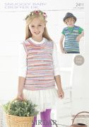 Sirdar Childrens Tank Tops Baby Crofter Knitting Pattern 2411  DK