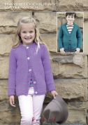 Hayfield Childrens Cardigans With Wool Knitting Pattern 2415  Chunky