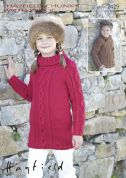 Hayfield Childrens Sweaters With Wool Knitting Pattern 2429  Chunky