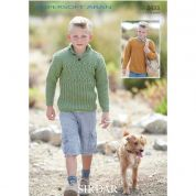 Sirdar Boys Sweaters Supersoft Knitting Pattern 2433  Aran