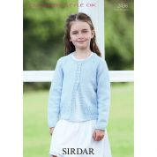 Sirdar Girls Cardigan Country Style Knitting Pattern 2436  DK